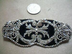 steel studdedl ladies belt buckle on black velvet, large