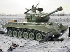 UK Heng Long RC Tank 2.4G Pershing Snow Leopard SMOKING and SOUND & BB SHOOTING