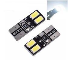 2X Ampoules T10 W5W Veilleuse LED Canbus BLANC 6000k Veilleuses 4 SMD 12V