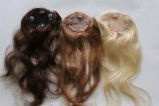 100% Human hair, handmade hair top piece / extension. Clip in. Get huge volume!
