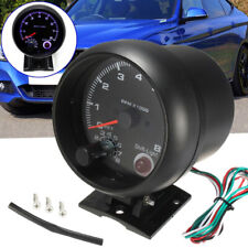 3.75'' Universal Car Tachometer Tacho Gauge Meter LED Shift Light 0-8000 RPM VU