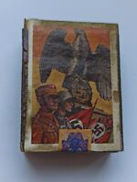 NAZI GERMANY MATCHBOX WITH A GENERAL, AN OFFICER, AN EAGLE HOLDING A SWASTIKA