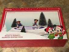 Disney Mickey and Minnie Ice Skating Pond-Dept 56 Animated Holiday Village