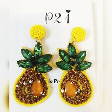Fashion Crystal Cute Pinapple Earrings - Brand New