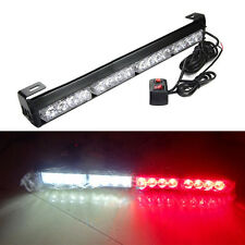 16 LED Red&White Emergency Warning Light Bar Traffic Advisor Strobe Flash Lamp