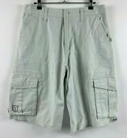 Quiksilver Men's Cargo Shorts Size 30 Beige Summer Shorts Zip Fly Smart Casual