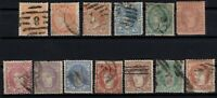 P135039/ SPAIN STAMPS – YEARS 1867 - 1870 USED CLASSIC LOT – CV 178 $