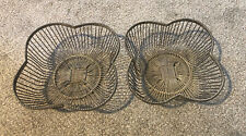 2 Vintage Wire Fruit Bowls (Handmade) Beautifully Crafted For Use Or Display