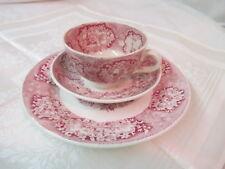 Antique Holland Maestricht Societe Ceramique Cup Saucer Plate Red White Oriental