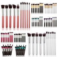 10pc Cosmetic Makeup Soft Face Brush Set Powder Foundation Eyeshadow Blush Tools