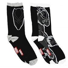 Black Panther Head Reach Claw Slash Graphic Print 2 Pack Socks Fits Most Sz 6-12