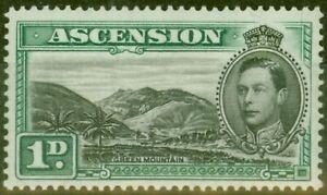 Ascension 1938 1d Black & Green SG39 Fine Lightly Mtd Mint