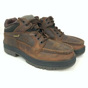 Timberland Men's Waterproof Chukka Gore-Tex Brown Leather Boots 37042 Size 7