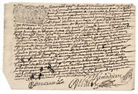 1697 LOUIS XIV royal notary signed manuscript Amazing SIGNATURES and stamp