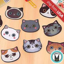 Lot 9pcs Cute Mini Cat Kitty Pocket Compact makeup Mirror Kawaii Cartoon novelty