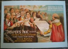 POSTCARD DRAPERS INK - THE BEST BLACK INK KNOWN