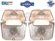 62-4 Chevy II Nova Clear Tail Light Lamp Lens & Back Up Set L&R