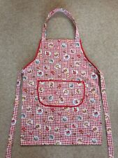 Childs Cooking Craft  Fabric Apron Toddler Preschool Size Red Cupcakes