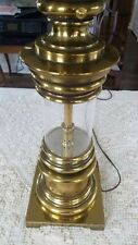 Stiffel Lantern Style Brass and Glass Lamp Mid-Century Style