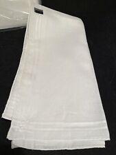 13 PCS Men's Handkerchiefs 100% Cotton Classic Hankies Hankerchief White 18x18