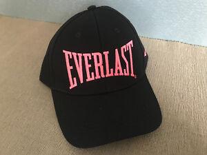 BNWT Genuine Everlast Black Fluro Peach Logo Trucker Style Adult Size Peak Cap