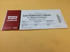 San Francisco 49ers Arizona Cardinals RARE Ticket Stub 10/6/2016 David Johnson