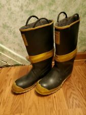 Ranger Firemaster Firefighter Pull On Boots Black Sz 9