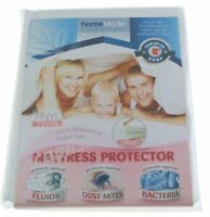 Twin Size Waterproof Zippered Vinyl Mattress Protector Hypoallergenic Bed Cover