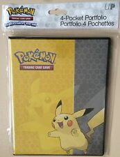 Ultra Pro Pokemon Pikachu 4 Pocket Portfolio - Trading Card Folder Binder Album