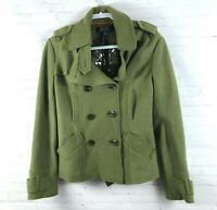 Millard Fillmore Women's Size L Green Boiled Wool Blend Jacket