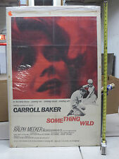 Something Wild Theatrical One Sheet 27x41 Good Condition 1962Carroll Baker 62/67