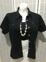 Women's Adriana Sport 18W Black 100% Cotton Summer Denim Jacket
