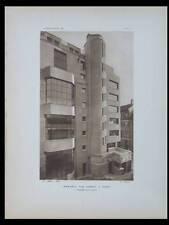 L'ARCHITECTE 1931 PARIS, 12 RUE CASSINI, ABELLA,  INSTITUT BIOLOGIE 13 RUE CURIE