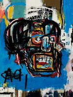 V8925 Jean-Michel Basquiat Untitled, 1982 JMB Painting Art WALL PRINT POSTER AU