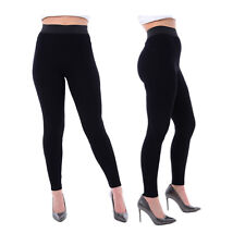 Womens Black Leggings High Waist - Ex Top Shop Gym Yoga Comfort Stretch