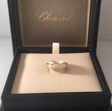 CHOPARD 18K GOLD FULL DIAMOND WEDDING BAND RING 82/7331 NEW WITH BOX & PAPERS!!