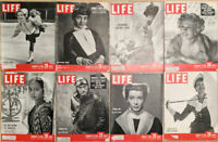 Lot of 16 1950 LIFE Mags- Gregory Peck Childbirth Eva Gabor Marsha Hunt Stevens