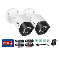 SANNCE 2x HD-TVI 720P 1500TVL 24IR Home Security Camera Indoor Outdoor Bullet HD