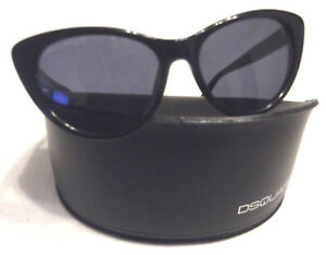 DSquared Sunglasses  DQ 0112//S 01B Womens Cat Eye Black Acetate Grey grad Lenses