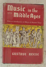 Music in the Middle Ages Gustave Reese H/B History Medieval