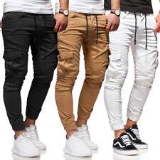 BEHYPE Cargo Hose Jogg-Jeans für Herren Jogginghose Schwarz/Beige/Weiß/Grau NEU
