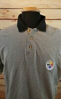 Pittsburgh Steelers Mens Polo Golf Shirt Size Large 100% Cotton