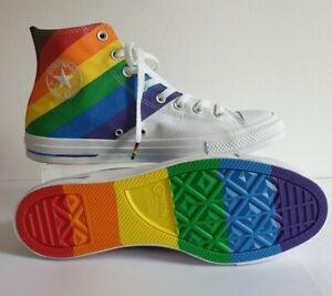 Mens/Womens Rainbow Converse Trainers Pride Size (UK10) (EUR 44) + Free Socks!