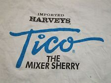 Vintage Harveys Tico Mixer Sherry Whiskey Whisky Liquor Thin Soft T Shirt M