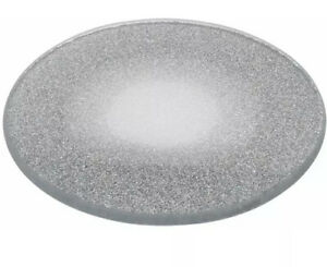 Glittery Silver Mirror Sparkle Glass Coaster Circle Bling Candle Plate Gift 15cm