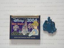 Disney Main Entrance Pass Guide MAGIC KINGDOM & CINDERELLA INSERT Cast 2 Pin Set
