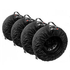 "(4) 16""-21"" Car Spare Tire Cover Storage Bag Vehicle Wheel Tyre Protector Black"