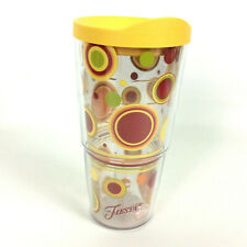 Tervis Tumbler 24 Oz Fiesta Sunny Dots Yellow Travel Lid