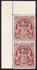 Rhodesia 1908 £2 PERF SPECIMEN DOWN R (SAMUEL R5) SG91s VF NOGUM -NEVER HINGED-2