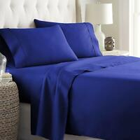 Double/Queen/King/Super King Size Bed Doona/Duvet/Quilt Cover Set Royal BluSolid